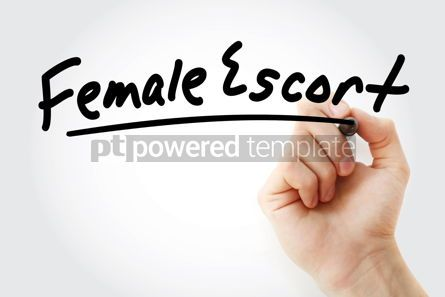 Business: Hand writing Female escort with marker #08770