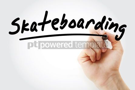 Sports : Hand writing Skateboarding with marker #08778