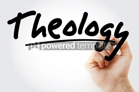 Business: Hand writing Theology with marker #08779