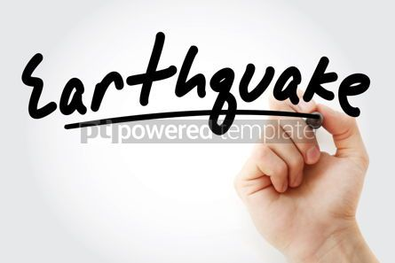 Business: Hand writing Earthquake with marker #08781