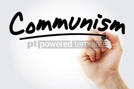 Business: Hand writing Communism with marker #08783