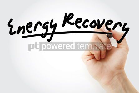 Business: Hand writing Energy recovery with marker #08786