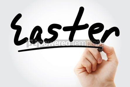 Holidays: Hand writing Easter with marker #08791