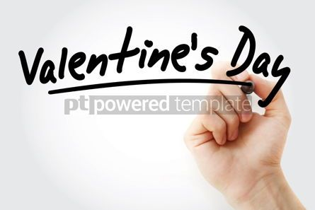 Holidays: Hand writing Valentine's Day with marker #08792