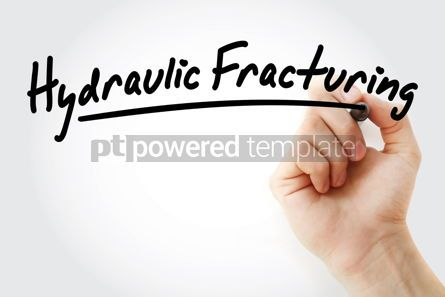 Industrial: Hand writing Stop Fracking with marker #08793