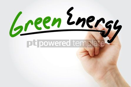 Industrial: Hand writing Green energy with marker #08794