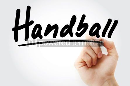 Sports : Hand writing Handball with marker #08795