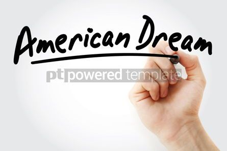 Business: Hand writing American dream with marker #08799