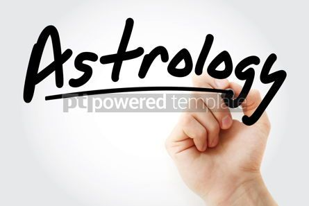 Education: Hand writing Astrology with marker #08801
