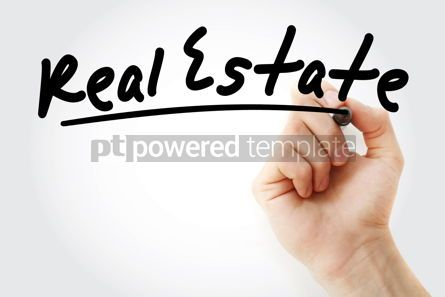 Business: Hand writing Real estate with marker #08805