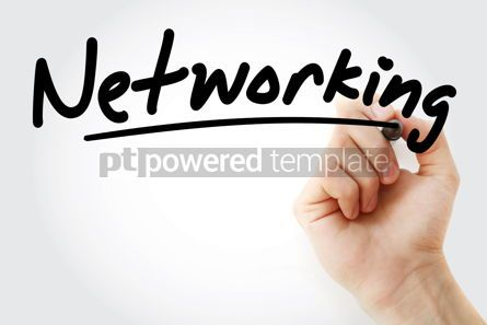Technology: Hand writing Networking with marker #08808