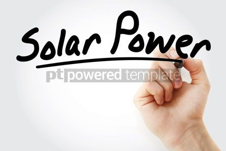 Business: Hand writing Solar power with marker #08810
