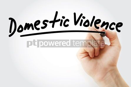 Business: Hand writing Domestic violence with marker #08812