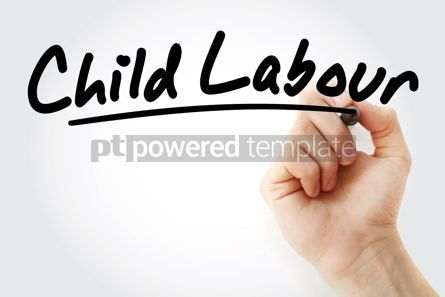 Business: Hand writing Child labour with marker #08813