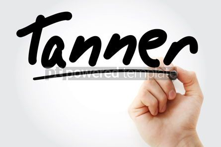 Business: Hand writing Tanner with marker #08819