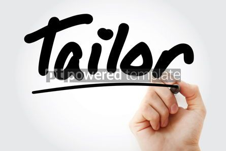 Business: Hand writing Tailor with marker #08824