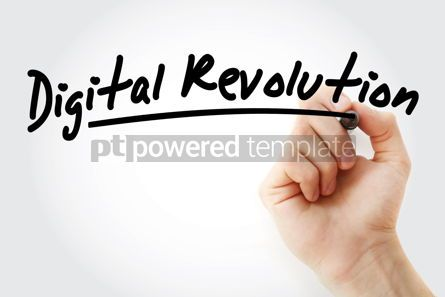Business: Hand writing Digital revolution with marker #08828