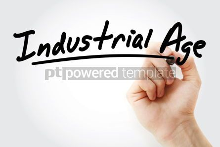 Business: Hand writing Industrial age with marker #08829