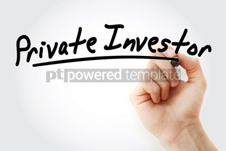 Business: Hand writing Private investor with marker #08830