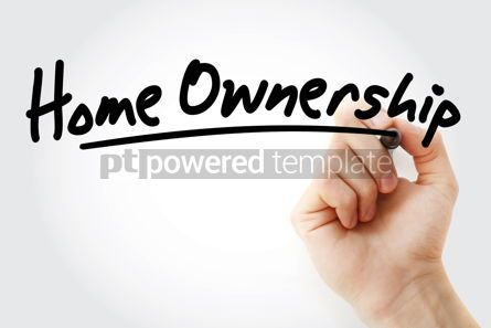 Business: Hand writing Home ownership with marker #08835