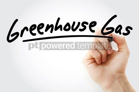 Business: Hand writing Greenhouse gas with marker #08836