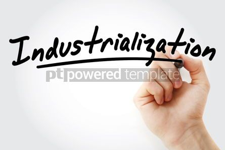 Business: Hand writing Industrialization with marker #08837