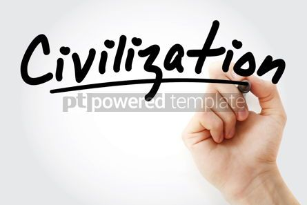 Business: Hand writing Civilization with marker #08838
