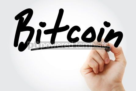 Business: Hand writing Bitcoin with marker #08841