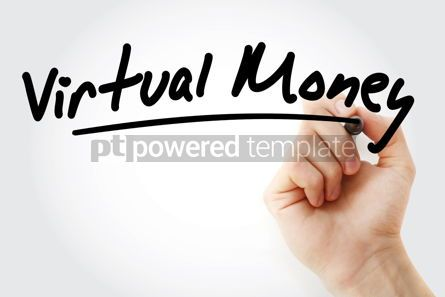 Business: Hand writing Virtual money with marker #08846