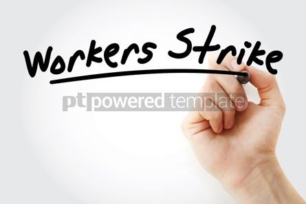 Business: Hand writing Workers strike with marker #08848