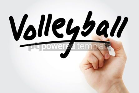 Business: Hand writing Volleyball with marker #08849