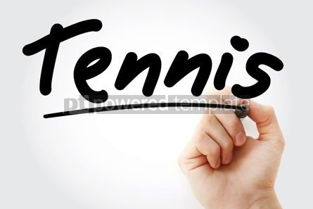 Business: Hand writing Tennis with marker #08850