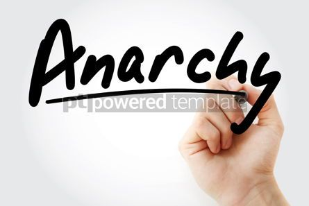 Business: Hand writing Anarchy with marker #08853