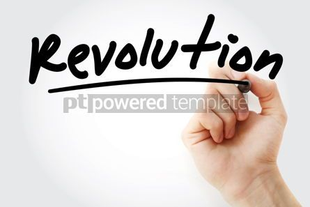 Business: Hand writing Revolution with marker #08855