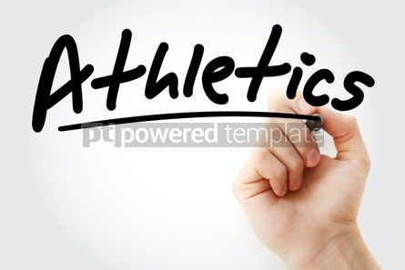 Business: Hand writing Athletics with marker #08858