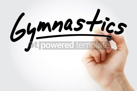 Business: Hand writing Gymnastics with marker #08859