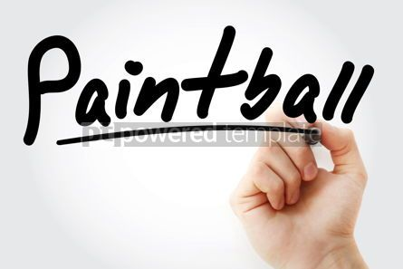 Business: Hand writing Paintball with marker #08869