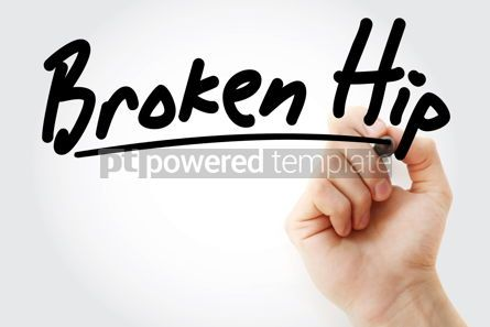 Business: Hand writing Broken hip with marker #08880