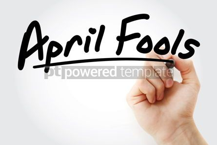 Business: Hand writing April fools with marker #08882
