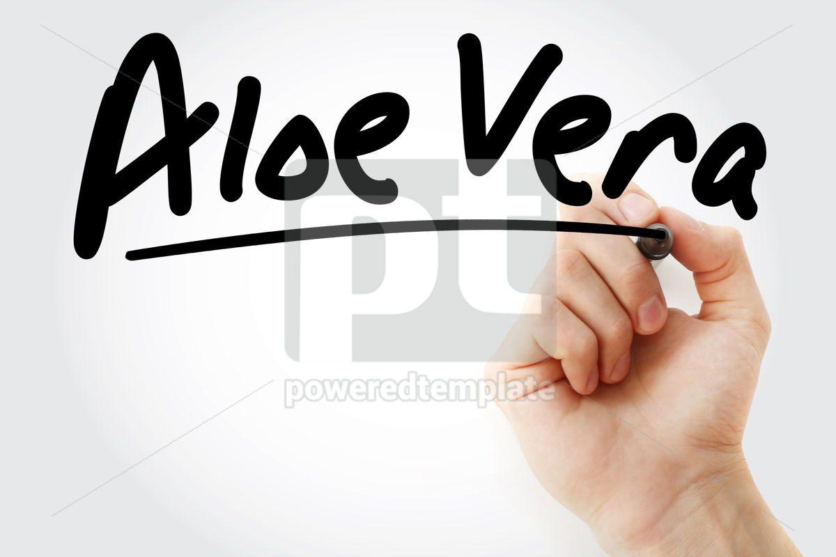 Hand writing Aloe vera with marker, 08886, Business — PoweredTemplate.com