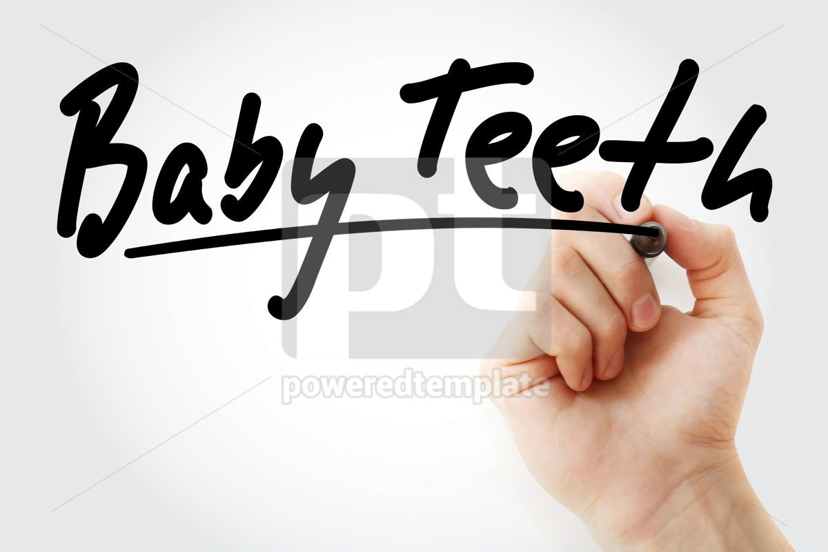 Hand writing Baby teeth with marker, 08887, Business — PoweredTemplate.com