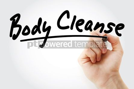 Business: Hand writing Body cleanse with marker #08889