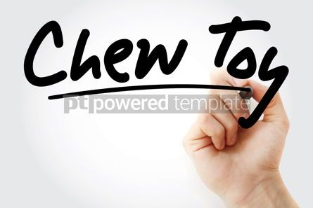 Business: Hand writing Chew toy with marker #08896