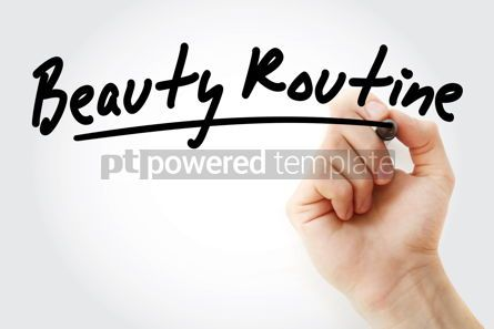 Business: Hand writing Beauty routine with marker #08897