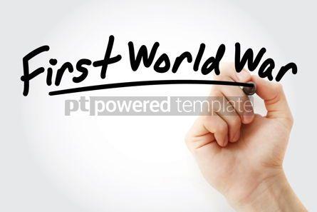 Business: Hand writing First World War with marker #08915