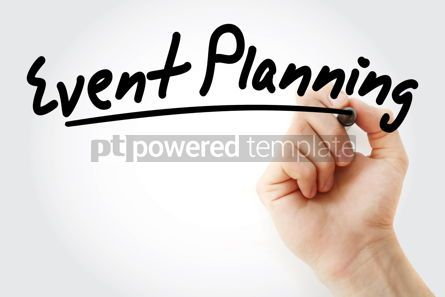 Business: Hand writing event planning with marker #08920
