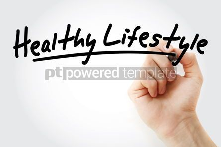 Business: Hand writing Healthy lifestyle with marker #08929
