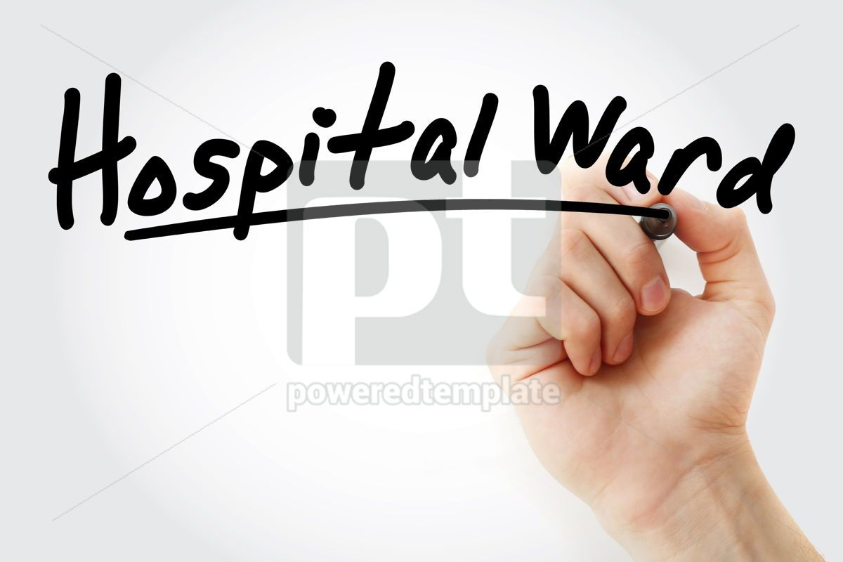 Hand writing Hospital ward with marker, 08930, Business — PoweredTemplate.com