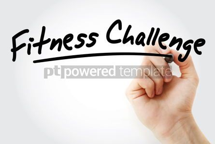 Business: Hand writing Fitness challenge with marker #08934