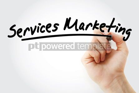 Business: Hand writing services marketing with marker #08935